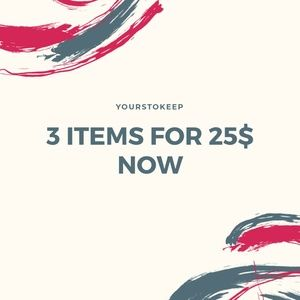 LIMITED TIME: 3 different items for $25